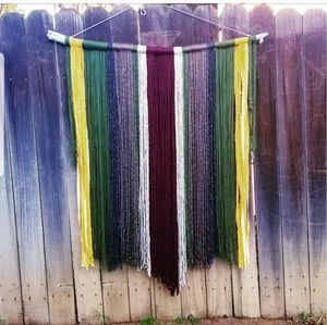 Giant Yarn Wall ART Boho decor TAPESTRY